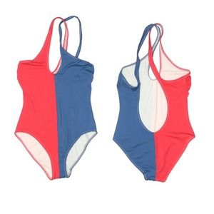 Solid and Stripe one pc swimsuit